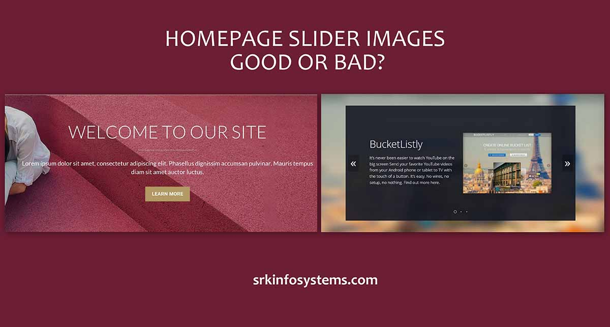 Homepage Slider Images Are Bad or Good?